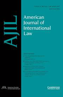Journal cover: American Journal of International Law