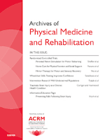 Archives of physical medicine and rehabilitation