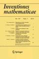Cover of Inventiones mathematicae
