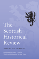 Journal cover: The Scottish Historical Review