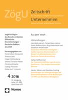 Journal cover image for Zeitschrift für öffentliche und gemeinwirtschaftliche Unternehmen