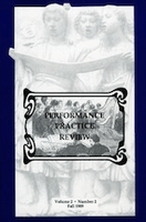 Cover of Performance Practice Review