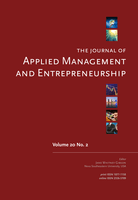 Cover of The Journal of Applied Management & Entrepreneurship