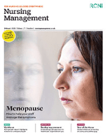 Journal cover: Nursing Management