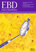 Journal cover: Evidence Based Dentistry