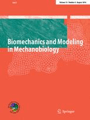 cover of the Biomehcanics and Modeling in Mechanobiology journal