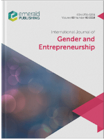 Cover of International Journal of Gender and Entrepreneurship