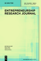 Cover of Entrepreneurship Research Journal